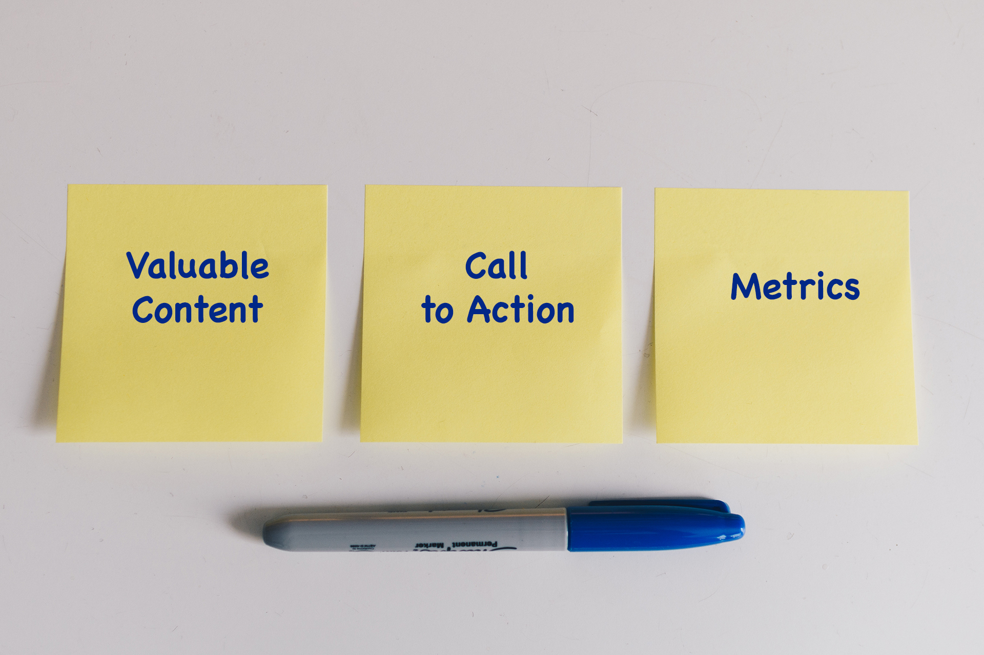 Valuable Content + Call to Action + Metrics